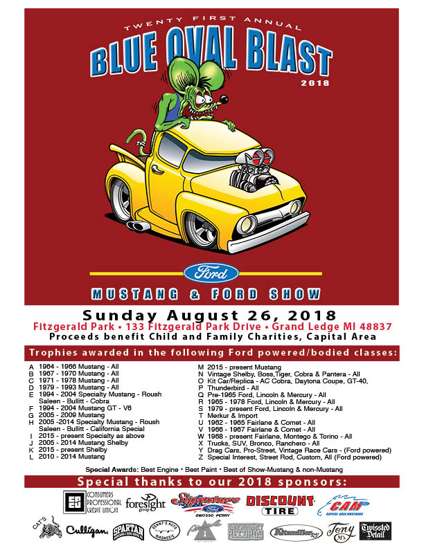 Blue Oval Blast flyer 2018
